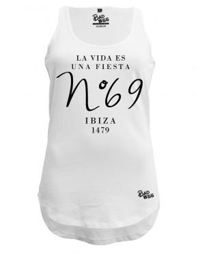Long singlet rounded Ibiza - WHITE