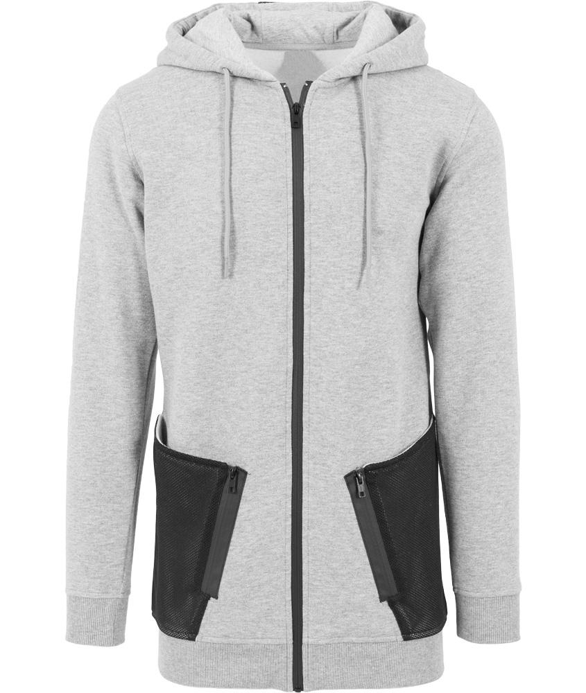 Heren Hoodie Vest.Heren Vest Logo Grijs Badass Fashion
