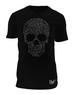 skull tshirt gliter mannen