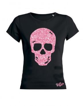 glitter roze skull